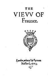 Un aperçu de la France telle qu'elle était vers l'an 1598