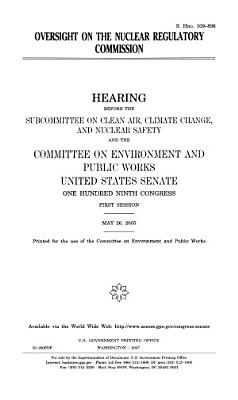 Oversight on the Nuclear Regulatory Commission
