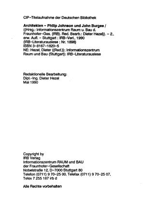 Architekten  Philip Johnson und John Burgee PDF