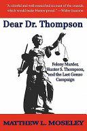 Dear Dr. Thompson