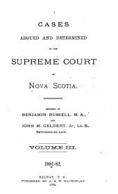 The Nova Scotia Reports: Volume 15