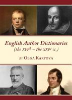 English Author Dictionaries  the XVIth     the XXIst cc   PDF