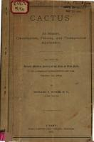 Cactus   Its History  Classification  Proving and Therapeutical Application PDF