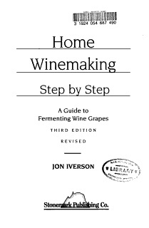 Home Winemaking  Step by step Book
