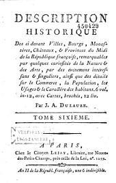 Description des principaux lieux de France,... accompagnée de cartes