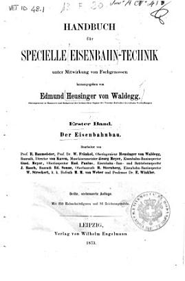 Handbuch fur specielle Eisenbahn Technik PDF