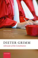 Dieter Grimm  Advocate of the Constitution PDF