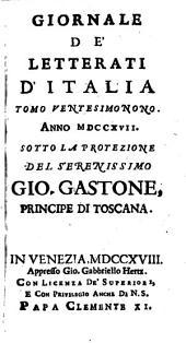 Giornale de'letterati d'Italia: Volume 29