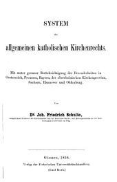 Das katholische Kirchenrecht: T. System des allgemeinen katholischen Kirchenrechts