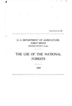 The Use of the National Forests