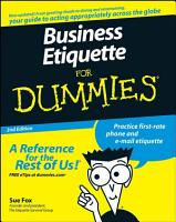 Business Etiquette For Dummies PDF
