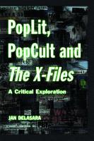 PopLit  PopCult and The X Files PDF