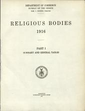Religious Bodies, 1916: Summary and general tables