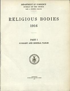 Religious Bodies  1916  Summary and general tables
