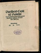 Das siebend Capitel Danielis, von des Türken Gotteslesterung