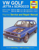 VW Golf, Jetta and Scirocco Owners Workshop Manual