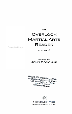 The Overlook Martial Arts Reader PDF