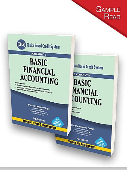 Taxmann s Basic Financial Accounting  Choice Based Credit System   Set of 2 Volumes    7th Edition   December 2020 PDF