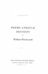 Poems Sonnets And Lyrics