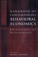 Handbook of Contemporary Behavioral Economics PDF