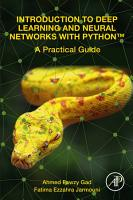 Introduction to Deep Learning and Neural Networks with PythonTM PDF