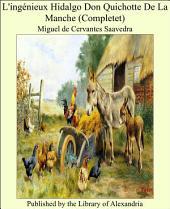 L'ing_nieux hidalgo Don Quichotte de la Manche