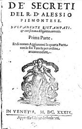 De' secreti del R.D. Alessio Piemontese
