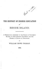 History of Higher Education in Rhode Island: Volume 370