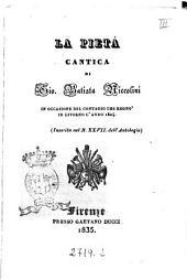 La pietà cantica di Gio. Batista Niccolini