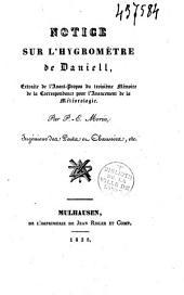 Notice sur l'hygromètre de Daniell: extraite de l'avant-propos du troisième mémoire de la correspondance pour l'avancement de la météorologie