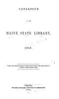 Catalogue of the Maine State Library  1856 PDF