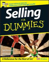 Selling For Dummies PDF