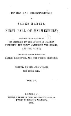 Diaries and Correspondence of James Harris  First Earl of Malmesbury PDF