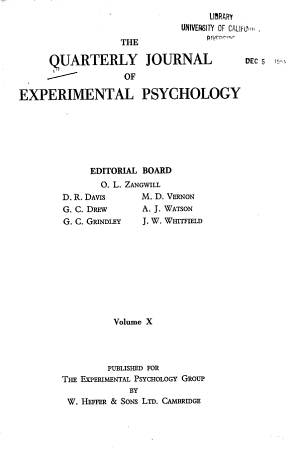 The Quarterly Journal of Experimental Psychology PDF