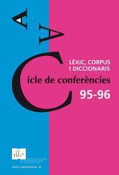 Cicle de conferències 95-96: Lèxic, corpus i diccionaris