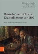 Bairisch   sterreichische Dialektliteratur vor 1800 PDF