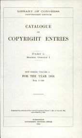 Catalogue of copyright entries: Books, Volume 1