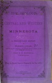 The Geology of Central and Western Minnesota: A Preliminary Report