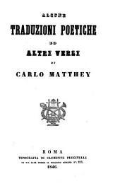 Alcune traduzioni poetiche ed altri versi