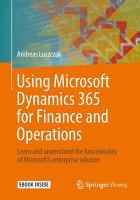 Using Microsoft Dynamics 365 for Finance and Operations PDF