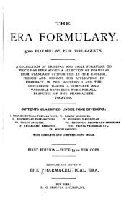 The Era Formulary Book
