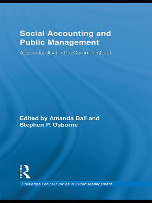 Social Accounting and Public Management PDF