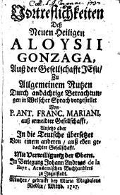 Vortrefflichkeiten des Hl. Aloysius Gonzaga