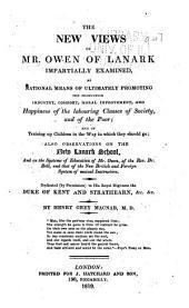 The New Views of Mr. Owen of Lanark ... Examined