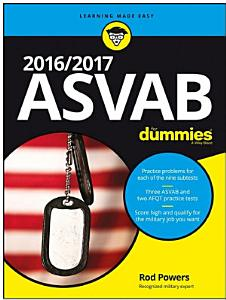 2016 / 2017 ASVAB For Dummies Book