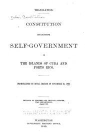 Constitution Establishing Self-government in the Islands of Cuba and Porto Rico