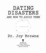 Dating Disasters and How to Avoid Them PDF
