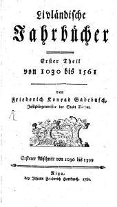 Livländische Jahrbücher: Band 1