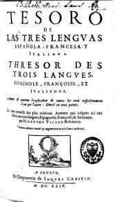 Tesoro de las tres lenguas, española, francesa y italiana