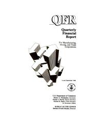 Quarterly financial report for manufacturing, mining and trade corporations: Issues 3-4